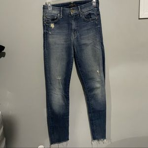 Mother jeans size 24 high waisted looker rough it